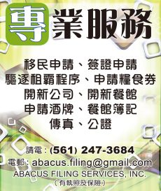 專業服務 ABACUS FILING SERVICES, INC.